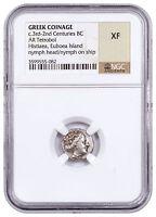 Greek Isl Euboea Histiaea Silver Tetrobol 3rd-2nd Centuries BC NGC XF SKU53778