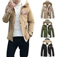 Fashion Men's Man Warm Jacket Fur Collar Thick Winter Hooded Coat Outwear Parka
