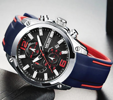 Men's Watch Reloj De Hombre Sports Style Silicone Rubber Watches Chronograph