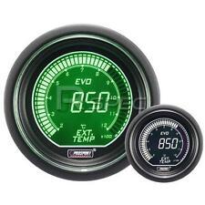 Prosport 52mm EVO Voiture température des gaz d'échappement vert blanc lcd affichage numérique