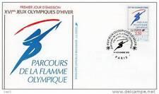 Jeux olympiques d´ Albertville 1992 - Parcous de la flamme olympique - 14/11/199