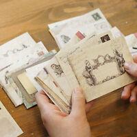 12pcs Envelopes Mini Vintage Retro Korean Style Airmail Brown Kraft Paper Gift#