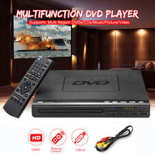 Schwarz 1080P HD Multi Region DVD Player Fernbedienung Automatisch CD Spieler
