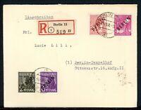 Berlin MiNr. 1, 2, 11, 12 Mischfrankatur auf R-Brief gelaufen (K403