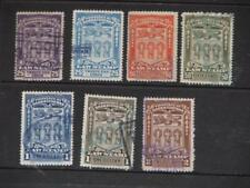 Canada--Saskacthewan Set of 6 different Law Stamps, all used