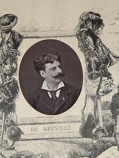 ALPHONSE DE NEUVILLE  PEINTRE  PHOTO DE MULNIER  PORTRAIT  1877