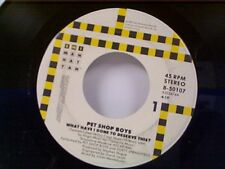 """PET SHOP BOYS """"WHAT HAVE I DONE TO DESERVE THIS / A NEW LIFE"""" 45 MINT"""