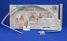 Canopy Kit By Kurtain Kraft No Sewing Bedroom Decorating Quick & Easy NOS