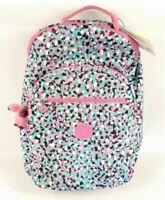 Kipling Seoul Backpack Loving Geos Black White Pink Teal Multicolor NWT New $129