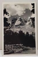 Mt Rushmore National Memorial, Gutzon Borglum Sculptor, Bell Photo Postcard C8