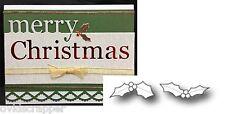 Mini Holly Leaves die set Memory Box metal dies 98658 Holidays,Christmas,leaf