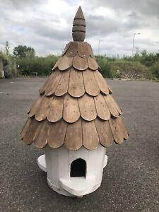 Round Dovecote small Barrel Bird House - Vintage bird house hand made Dove cote