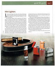 AD.  CIGAR LIGHTERS S.T. DUPONT'S LINE-8, SIGLO RETRO II, XIKAR ALLUME, BRIZARD
