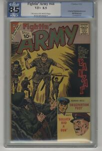 Fightin' Army #44 1961-Charlton-Babzai-WWII PGX GRADED 8.0 VF