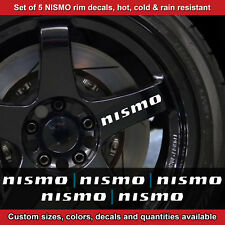 Nismo rim decal sticker adhesive all nissans 5 DECALS wheels  2.5srt WHITE