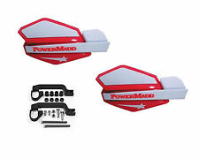 Powermadd Star Series Handguards Guards Mount Kit Red / White Yamaha ATV
