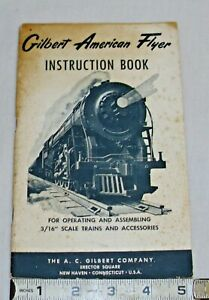 AMERICAN FLYER TRAINS INSTRUCTION BOOKLET 1950