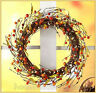 """Fall Harvest Autumn Berry Grapevine Wreath Country Door Wall Home Decor 15.75"""""""