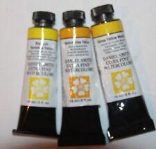 3 DANIEL SMITH Extra Fine Watercolor Paint:15ml-BRIGHT YELLOWS-Ser2