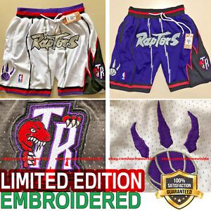 Vintage 1996 Toronto Raptors Shorts Full Embroidered Pocket NBA Shorts