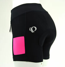 Pearl Izumi Women's Escape Sugar Cycling Shorts,Black/Screaming Pink, Size XL
