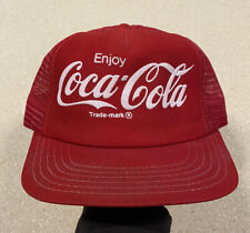 Vintage 1970's MADE IN USA Coca Cola Mesh Snapback Trucker Hat VERY RARE!