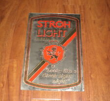 STROH LIGHT BEER MIRROR - LOOKS LIKE A STROH'S LIGHT NIGHT