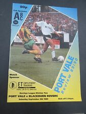 Port Vale V  Blackburn    1989/0