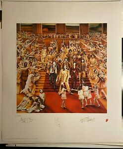The Rolling Stones It's Only Rock and Roll Numbered Art Print Lithograph 1993