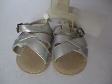 BABY GAP GREY STRAPPY SANDALS HOOK & LOOP  SIZE 0-3 MONTHS NEW