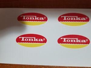 TONKA TRUCK MINI OVAL LOGO DECAL SET 1974-75