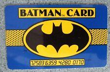 1989 DC Comics BATMAN Membership CARD  2 x 3 plastic