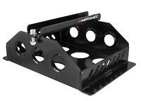 Motamec Alloy Race Battery Tray Red Top 40 Flat Mounting Box - Black
