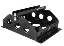 Motamec Alloy Race Battery Tray Red Top 40 Flat Mounting Box - Black
