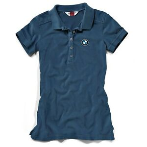 New BMW Logo Short-Sleeved Polo Shirt Women's L Blue #76898352184