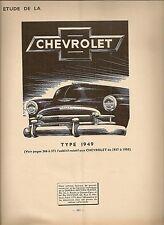 REVUE TECHNIQUE AUTOMOBILE 52 RTA 1950 CHEVROLET TYPE 1949 DYNA PANHARD