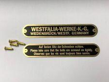 VW Westfalia Roof Rack brass tags badges original style for wood slats C9765