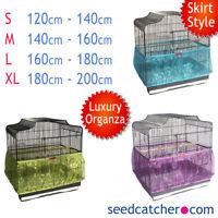 Luxury Organza Bird Cage Seed Catcher Guard Tidy Skirt Style