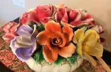 Vintage Large Capodimonte Flower Vase Floral Centerpiece!