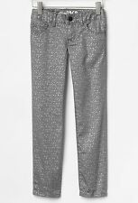 NEW GAP Kids Girls Size 5 years Gray Silver Super Skinny Jeans