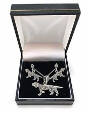 Sterling silver and marcasite necklace and earrings for dog lovers
