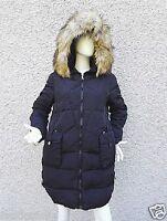 Manteau Doudoune Mi Longue Femme à Capuche veste Fourrure chaud hiver F-079