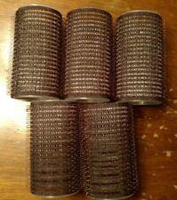 "Self Holding Hair Curlers, set of 5, medium, Black, 1 1/4"", mesh"