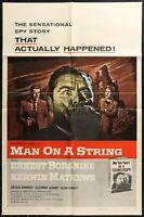"""MAN ON A STRING Ernest Borgnine  ORIGINAL 1964 1-SHEET MOVIE POSTER 27 x 41"""""""