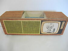 VINTAGE BARBIE CARDBOARD TV CONSOLE DREAM HOUSE FURNITURE ACCESSORY