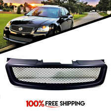 for Nissan Altima Front Grill Mesh Matte Black Grille fit years 2005 and 2006
