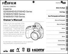 FujiFilm FinePix S1600 S1700 S1800 S1900 S2500 HD S2700 HD Digital Camera Manual
