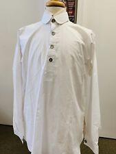New, Sz. M Clean White Civil War, Western,19th century Re-enacting Shirt, A+