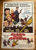 Blood on The Arrow (1964) 1 Sheet Movie Poster 27x41 B Movie Western Vintage
