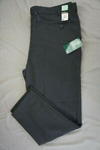 M /& S MENS TAILORED FIT PERFORMANCE WOOL BLEND TROUSERS-GREY PIN-W34 L33 BNWT